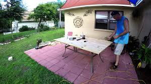 Patio Table Glass Shattered Diy Patio Table Youtube