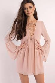 bell sleeve dresses long black white lace flare tobi us