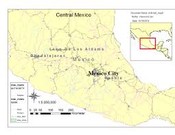 Central Mexico Map by Claurence Can Mexico Map