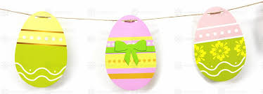 paper easter eggs 10ft 16 eggs paper easter egg bunting easter banner diy easter