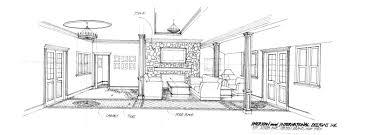 open plan living room design sketch carameloffers