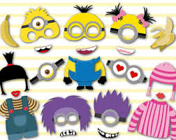 party photo booth minions party etsy