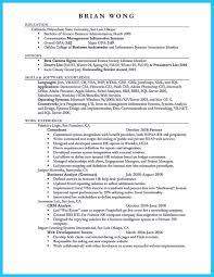 Business Administration Resume Sample Resume Business Marketing