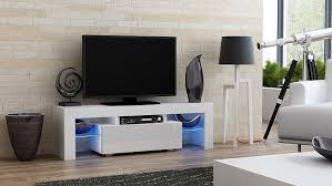 Tv Console Cabinet Design Amazon Com Tv Stand Milano 130 Modern Led Tv Cabinet Living