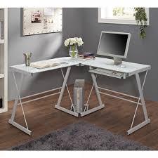 metal computer desks workstations modern computer desk l shaped office workstation white glass metal