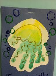 handprint jelly fish don u0027t forget the glitter kids art ideas