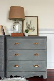 Gray Nightstands Makeover Monday A Pair Of Gray Nightstands Shades Of Blue Interiors
