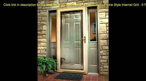 5 Patio Door Double Sliding Patio Door Prairie Style Internal Grill 5 Ft