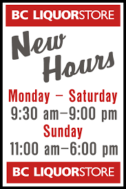 Liquor Signs by Bc Liquor Store U2013 Extended Shopping Hours