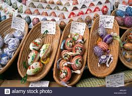 decorative eggs for sale painted eggs are displayed for sale with price tags in