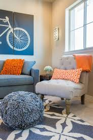 easy blue and orange living room about latest home interior design