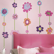 Butterfly Wall Decals For Nursery by Amazon Com Roommates Rmk1622gm Flower Stripe Peel U0026 Stick Giant