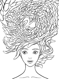 coloring pages hair
