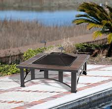 Firesense Table Top Patio Heater by Amazon Com Fire Sense Mission Style Square Fire Pit Outdoor