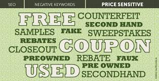 sales keywords negative keywords to include in every pay per click campaign