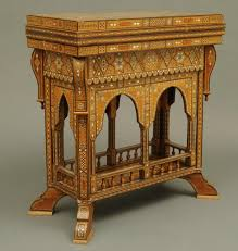 syrian moorish design marquetry games table hansord antiques lincoln
