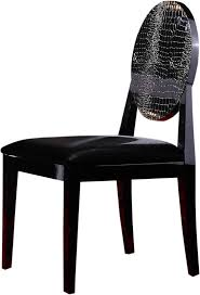 Black Lacquer Dining Room Chairs Aa018 Modern White Black Lacquer Chair