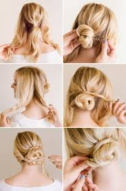 Simple But Elegant Hairstyles For Long Hair by 10 Updo Hairstyle Tutorials For Medium Length Hair Updo Tutorial
