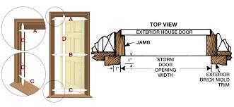 Rough Opening For Exterior 36 Inch Door by How To Measure Larson Storm Doors