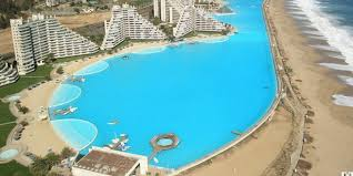 world u0027s largest outdoor pool at chile u0027s san alfonso del mar resort
