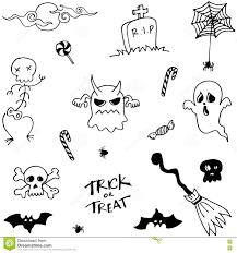 character halloween doodle set stock vector image 73257351