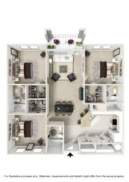 The Laurels Floor Plan by The Enclave Apartments In Gainesville Near Uf And Sands Hospital