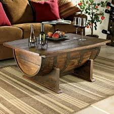 man cave coffee table vintage oak whiskey barrel coffee table perfect for the man cave