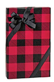 christmas plaid wrapping paper and black buffalo plaid fathers day