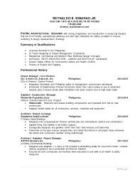 Sample Architect Resume Architect Resume Artist Architect Resume 01 2011 2pg Architect