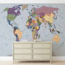 world map wall paper mural buy at europosters