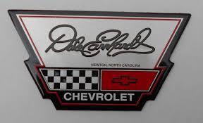 c4 corvette emblem dale earnhardt chevrolet dealer dealership metal badge