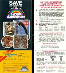 Six Flags Ad Six Flags Great Adventure Funseeker Cards