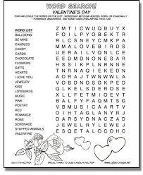 cybercrayon net word search valentine u0027s day
