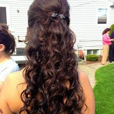 half up half down curly prom hairstyles curly down ideas prom