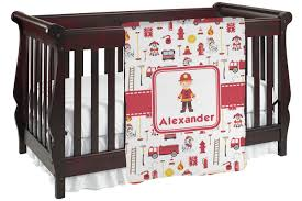 Firefighter Crib Bedding Firefighter Baby Blanket Personalized Baby