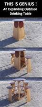 Wood Folding Table Plans Woodwork Projects Amp Tips For The Beginner Pinterest Gardens - how to build an expanding outdoor drinking table this is a great