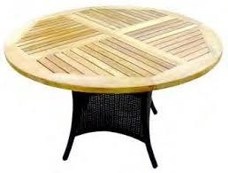 Sedex Hularo Round Teak Top Cm Dining Table WRTBL Buy - Round outdoor dining table australia
