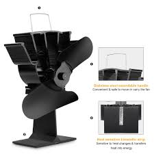heat powered stove fan fireplace fan for small space wood log