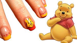 cute winnie pooh nails