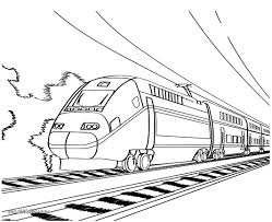 working sheet of bullet train for preschoolers coloring point