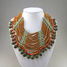 ethnic necklace vintage images Vintage bib necklace naga necklace ethnic jewelry statement jpg