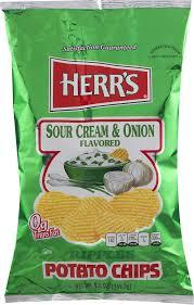 herr u0027s ripples potato chips sour cream u0026 onion 9 5 oz walmart com