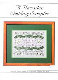 hawaiian wedding sler counted cross stitch pattern by frances l