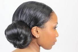 black hair bun american bun updo styles