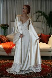 fiona chagne satin bridal wedding robe bridal