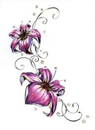 lilies with pink petals design