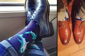 blue patterned shoes the tomboy s guide to wearing socks with dress shoes tomboy toes