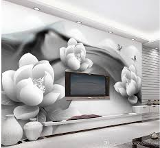 black and white ink butterfly simple 3d tv background wall mural