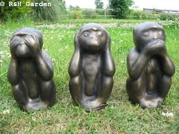 three wise monkeys garden ornaments free p p co uk