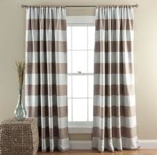 home decoration interesting horizontal striped curtains ideas for